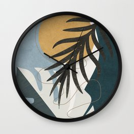 Abstract Tropical Art II Wall Clock