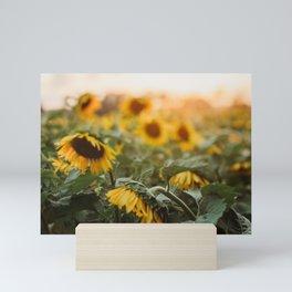 The Sunflower Field Mini Art Print