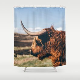 Highland Cow Looking in the Distance Shower Curtain