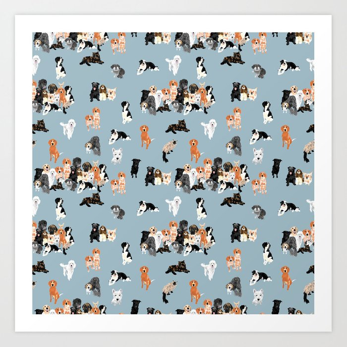 animal gang pattern Kunstdrucke