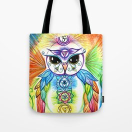 Chakra Owl Tote Bag