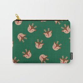 Green Ruldolf Reindeer Carry-All Pouch