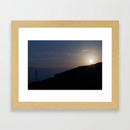 Sunset Over Masada, Israel Framed Art Print