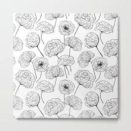 Poppy garden Metal Print