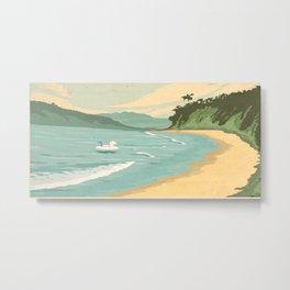 Santa Barbara Beach Metal Print