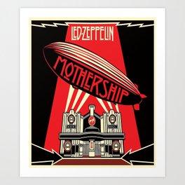 Forever Zeppelin Led Art Print