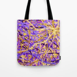 Purple and Gold Celebration Tote Bag