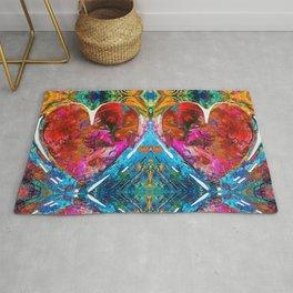 Colorful Heart Art - Everlasting - By Sharon Cummings Rug