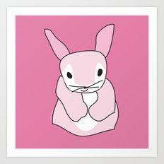 Pink Bunny Rabbit Art Print