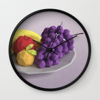 fruit Wall Clocks featuring Fruit by CharismArt