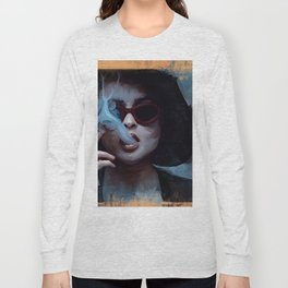Marla Singer Smokes A Cigarette Behind Sunglasses - Fight Long Sleeve T-shirt