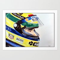 senna Art Prints featuring Senna by Gabriel Fox