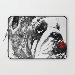 Bulldog Pop Art - How Bout A Kiss 2 - By Sharon Cummings Laptop Sleeve