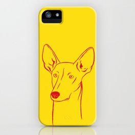 Ibizan Hound (Yellow and Red) iPhone Case