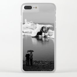 In Awe of Glacier Lagoon Clear iPhone Case