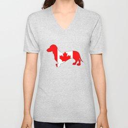 Canada Dachshund Unisex V-Neck