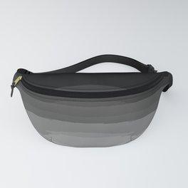Gray Black Ombre Pattern Fanny Pack