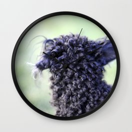 Poodle Ears in Color Wall Clock