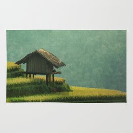 CHINA Travel Poster Vintage Style Rug