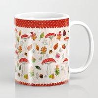 mushrooms Mugs featuring Mushrooms by Minasmoke