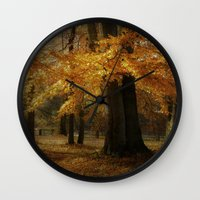 hiccup Wall Clocks featuring Fall skirt by hannes cmarits (hannes61)
