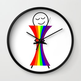 Pride Hug Wall Clock