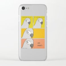 Sometimes I'm Mad Clear iPhone Case