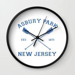 Vintage Asbury Park Vacation graphic Wall Clock