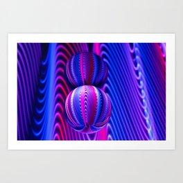 Colours in Invert Glass Ball Art Print
