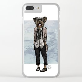 Charlotte Yorkie Clear iPhone Case