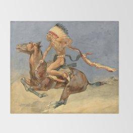 "Frederic Remington Western Art ""Pony War Dance"" Throw Blanket"