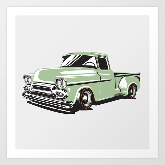 Rat Rod Truck Art Print