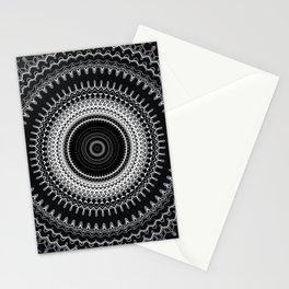 Modern Black White Mandala Stationery Cards