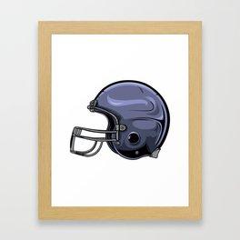 Gridiron Football Helmet Framed Art Print