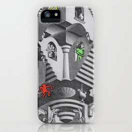 pop escher pt 3 iPhone Case