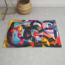 African Life Full of Life Energy Abstract Art Rug