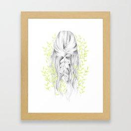 Green Green Girl Framed Art Print