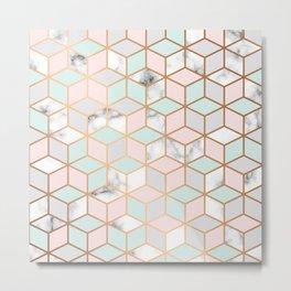 Marble & Geometry 051 Metal Print