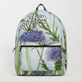 Thistle White Lace Watercolor Backpack