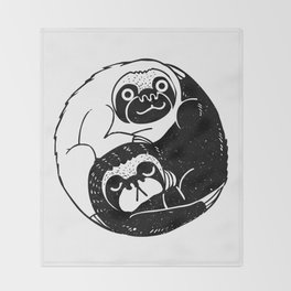 The Tao of Sloths Throw Blanket