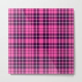 Pink & Purple Tartan Plaid Pattern Metal Print