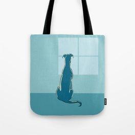 Waiting Greyhound Tote Bag