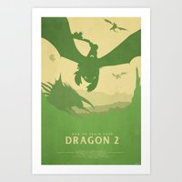 how to train your dragon Art Prints featuring Brotherhood - How to Train Your Dragon 2 by Edward J. Moran II