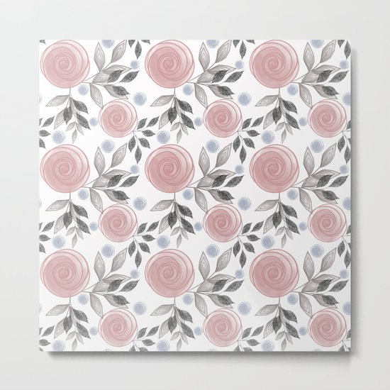 Delicate floral pattern. Metal Print