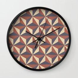 Cappuccino-Chocolate Art-Deco Pattern Wall Clock