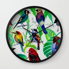 Birds, birds, birds.... Wall Clock