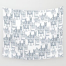 Tables and Chairs Wall Tapestry