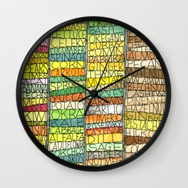 Fruit & Veg Wall Clock
