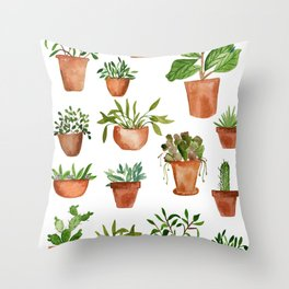 HOUSE PLANTS Throw Pillow