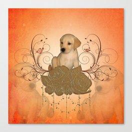 Cute little puppy Canvas Print
